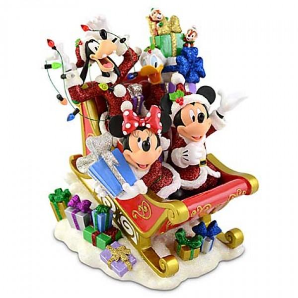 Mickey and Friends Sleigh Figurine