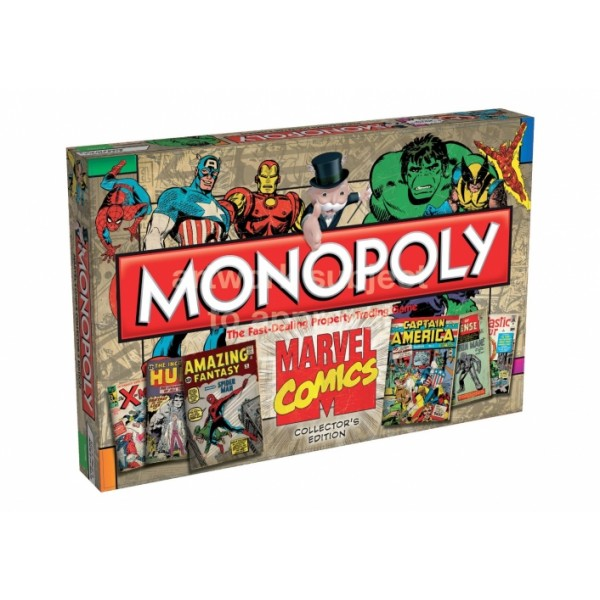 Monopoly Marvel Comic Books Board Game