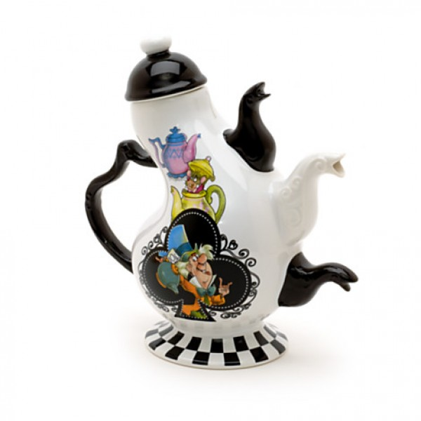disney alice in wonderland mad hatter teapot vintage