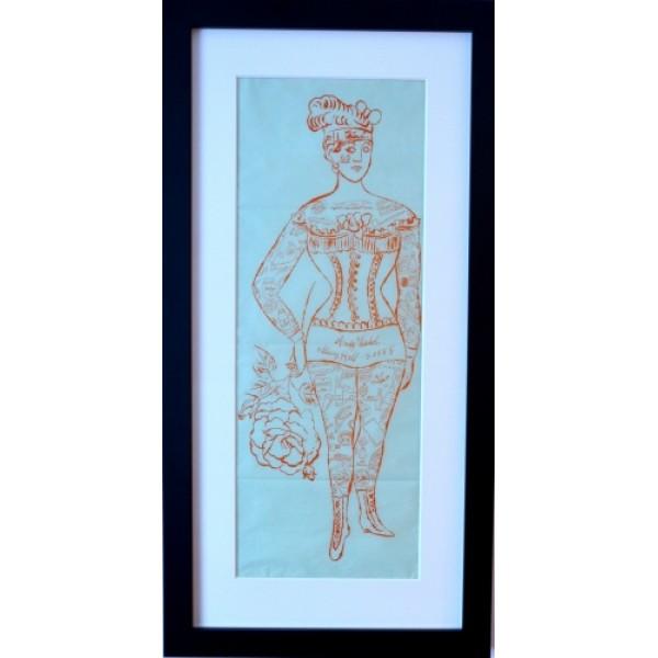 Tattooed Woman Holding Rose - Andy Warhol