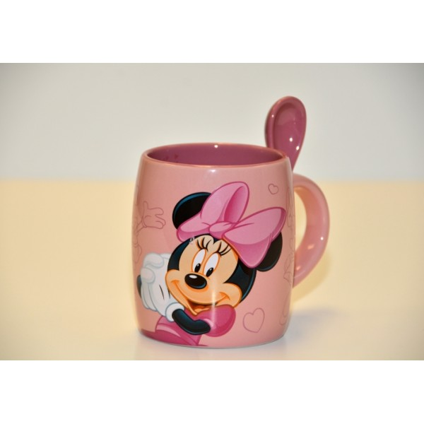 Minnie Mouse Mug and Spoon, Disneyland Paris