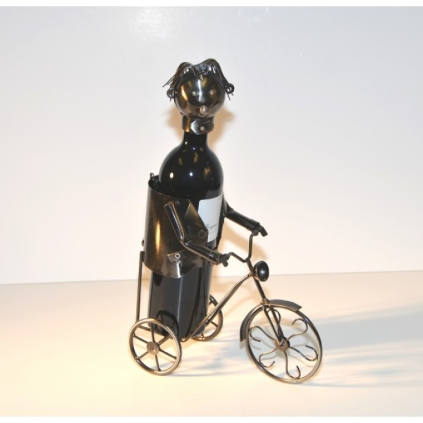 Man Riding Bike – Handmade Bottle Holder