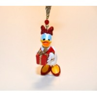Daisy Duck Holding Present Ornament
