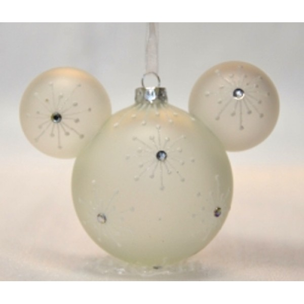 Mickey Mouse Icon Glass Ornament - Bejeweled, extremely rare