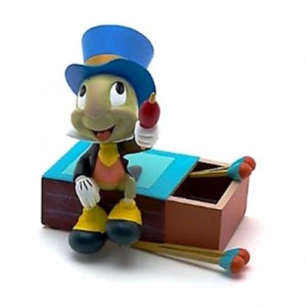 Disney Figurine Statue - Jiminy Cricket on Matchstick Box