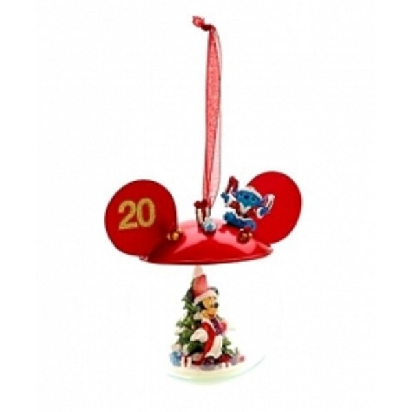 Disneyland Paris 20th Anniversary Mickey Mouse Bauble,Rare