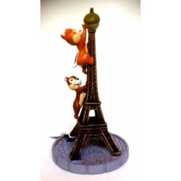 Disneyland Paris Chip & Dale Eiffel Tower Figure