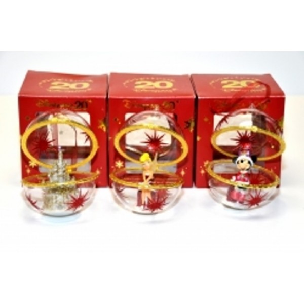 Disneyland Paris 20th Anniversary Limited Edition Disney Baubles (Set of 3) extremely rare