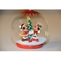 Mickey and Minnie Christmas Bauble Ornament