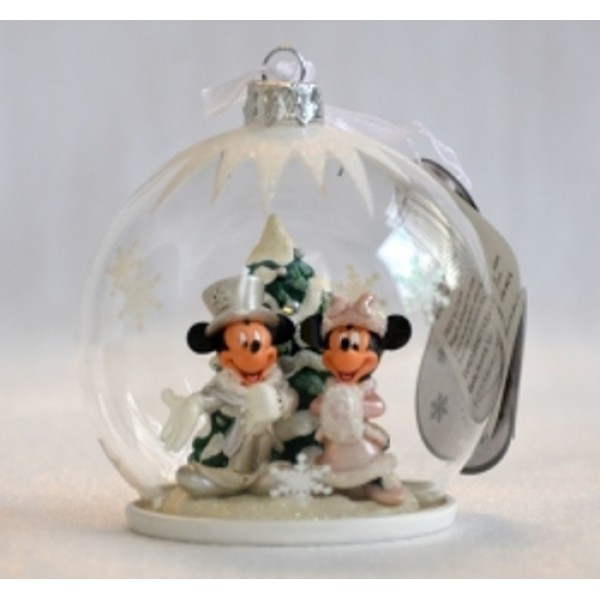 Mickey And Minnie Mouse Christmas Tree Decorations.Mickey And Minnie Mouse Christmas Tree Bauble