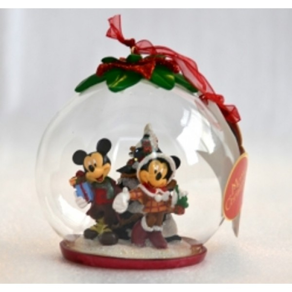 Mickey and Minnie Mouse Christmas Tree Bauble,Rare
