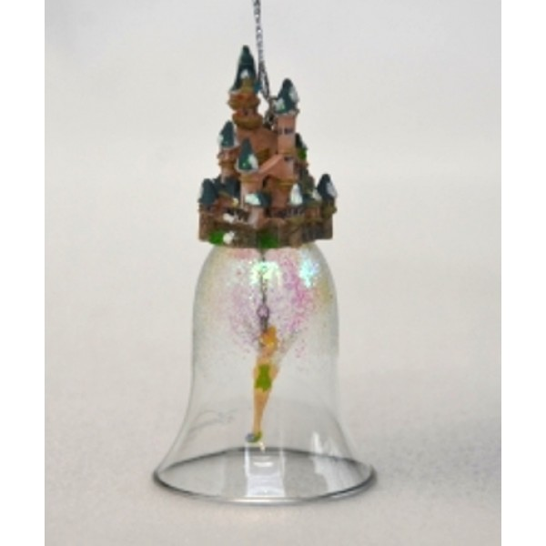 TinkerBell Cinderella Castle Glass Bell, extremely Rare