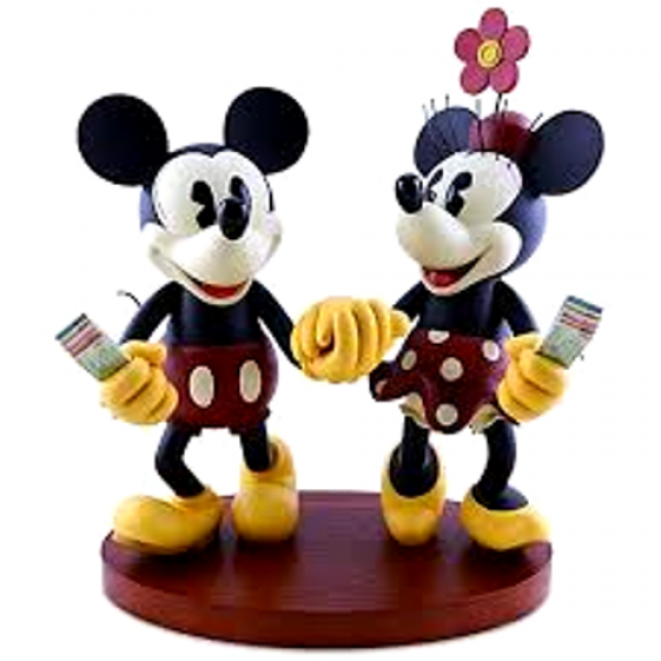 Disney Pie-Eyed Minnie and Mickey Mouse – Figurine